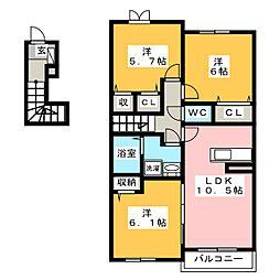 ミーティア[2階]の間取り