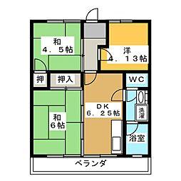メトロポリス3号館[4階]の間取り