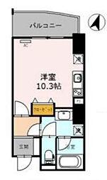Osaka Metro四つ橋線 西梅田駅 徒歩3分の賃貸マンション 12階1Kの間取り