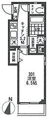 ビューノ五反野[301号室号室]の間取り
