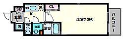 エスリード大阪上本町グリーズ 10階1Kの間取り
