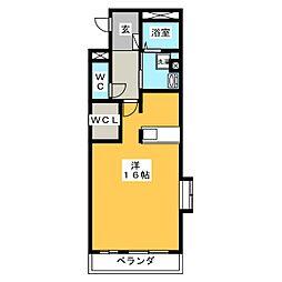 プレゼンス白石[2階]の間取り