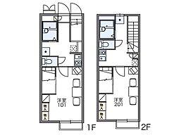レオパレスメルベーユIV[2階]の間取り