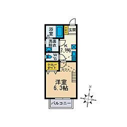 レゴリス湘南[2階]の間取り
