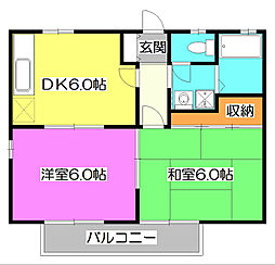 ニューベルハイツII[1階]の間取り