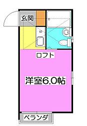 クレール上新井[1階]の間取り