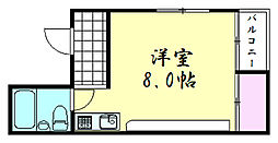鶴屋ビル[4号室]の間取り
