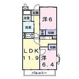 埼玉県草加市新栄1丁目の賃貸マンションの間取り