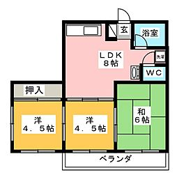 泰山メゾン[2階]の間取り