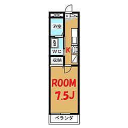 神奈川県横浜市鶴見区豊岡町の賃貸アパートの間取り
