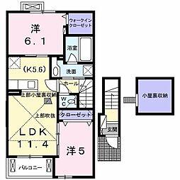 シエル・ノクターンI[2階]の間取り