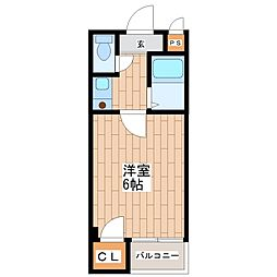 ツインコート平野I番館[4階]の間取り