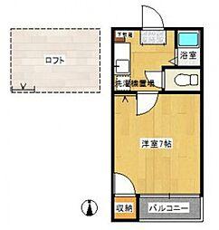 コスモパーク[205号室号室]の間取り