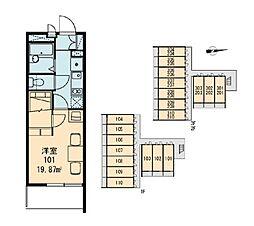 MUSASHI[3階]の間取り