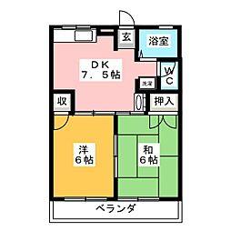 コーポTOMO[1階]の間取り