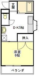 コーポイトウII[2階]の間取り