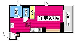 仙台市地下鉄東西線 大町西公園駅 徒歩5分の賃貸マンション 2階ワンルームの間取り