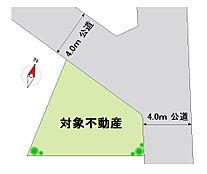 建築条件付売地 全1区画 開放感溢れる北東角地