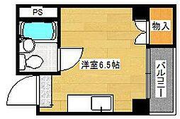 ロイヤル西住江[3階]の間取り