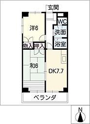 モラリス豊[8階]の間取り