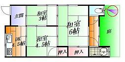 [テラスハウス] 大阪府吹田市南正雀5丁目 の賃貸【/】の間取り