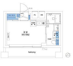 間取り(居住用、セカンドハウス、事務所等、利便性の高いワンルームです。)