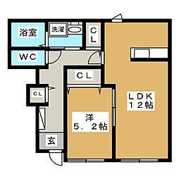 ガーデンルプスK[1階]の間取り