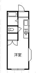 神奈川県相模原市中央区並木1丁目の賃貸アパートの間取り