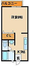 ルミエールHORI[1階]の間取り