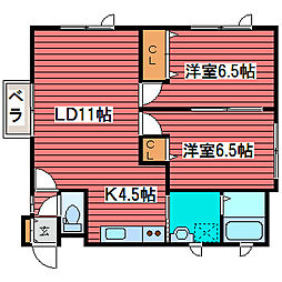 プロシード2[1階]の間取り