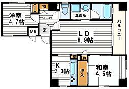 ロータリー上町[2階]の間取り