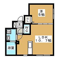アルーアNANGO[4階]の間取り