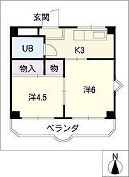 グリーンハイム島田[2階]の間取り