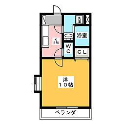 グロワール椿森[4階]の間取り