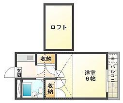 メゾン歌敷山[2階]の間取り