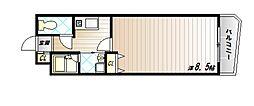 神戸市西神・山手線 伊川谷駅 徒歩4分の賃貸マンション 2階1Kの間取り
