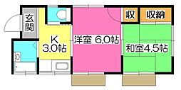 [一戸建] 東京都小平市小川町1丁目 の賃貸【/】の間取り