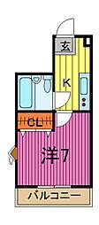 トップヒルKOEI[3階]の間取り