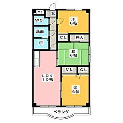 三日市TSガーデンアベニュー[3階]の間取り