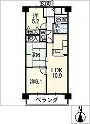 ネオハイツ名和 302号室[3階]の間取り