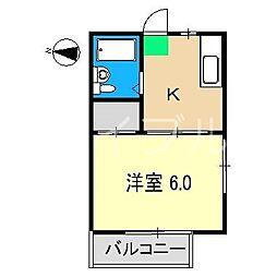 レジデンス高須[1階]の間取り