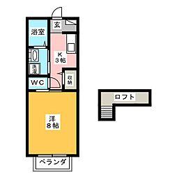 パルテネール[2階]の間取り