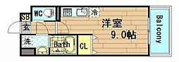 ブラービ阿波座[7階]の間取り