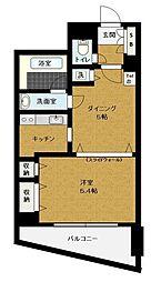 ルシェール赤坂[402号室]の間取り