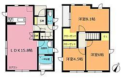 [一戸建] 埼玉県北本市二ツ家2丁目 の賃貸【/】の間取り