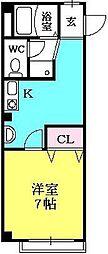 リーフジャルダン西宮[3-D号室]の間取り