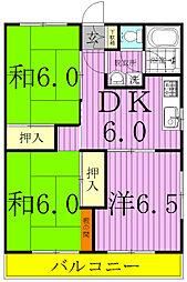 第1長谷川コーポ[3階]の間取り