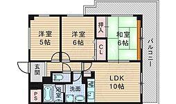 北大阪急行電鉄 桃山台駅 徒歩11分の賃貸マンション 1階3LDKの間取り