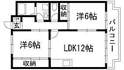 ガーデンヒル宝塚[3階]の間取り