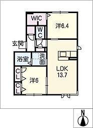 仮)ハートホーム一宮市三ツ井 B棟[1階]の間取り